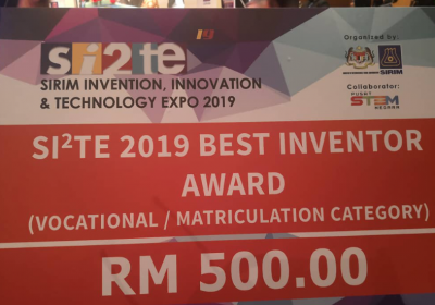 PERTANDINGAN SIRIM INVENTION, INNOVATION & TECHNOLOGY EXPO (Si2te) 2019